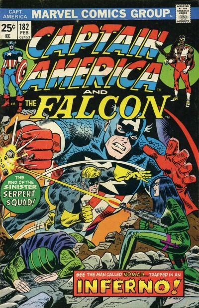 Cover for Captain America (Marvel, 1968 series) #182 [Regular Edition]