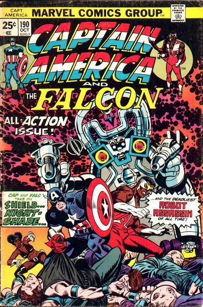 Cover for Captain America (Marvel, 1968 series) #190 [Regular Edition]