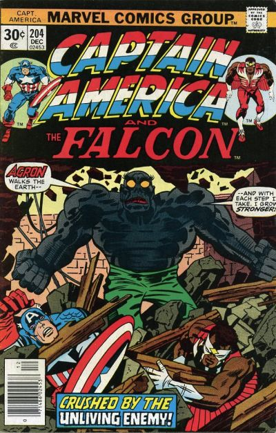 Cover for Captain America (1968 series) #204 [British price variant]