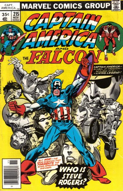 Cover for Captain America (Marvel, 1968 series) #215 [Regular Edition]