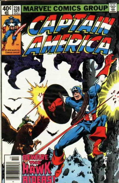 Cover for Captain America (Marvel, 1968 series) #238 [Direct Edition]