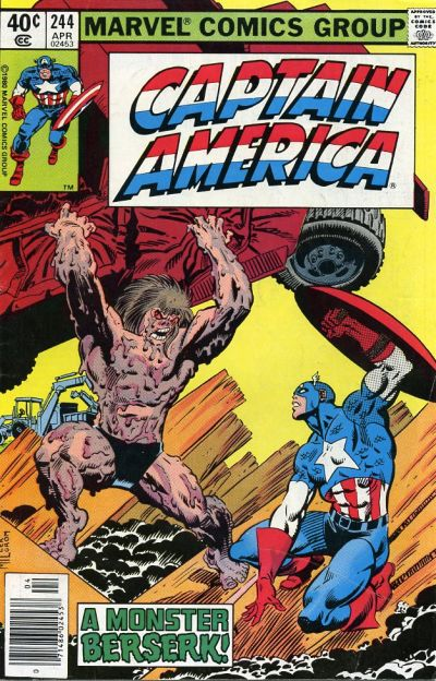 Cover for Captain America (Marvel, 1968 series) #244 [British Price Variant]