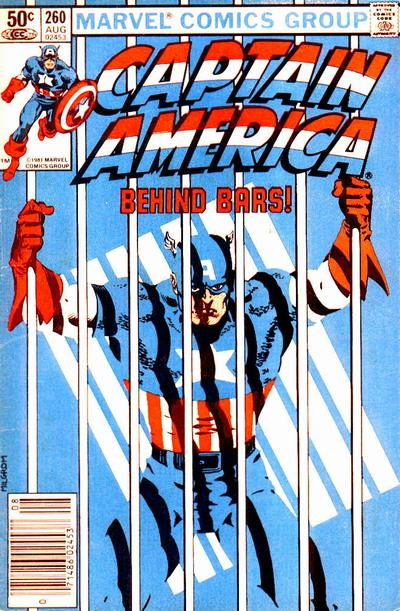 Cover for Captain America (Marvel, 1968 series) #260 [Direct Edition]