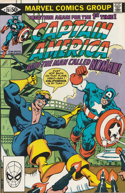 Cover for Captain America (Marvel, 1968 series) #261 [Direct Edition]