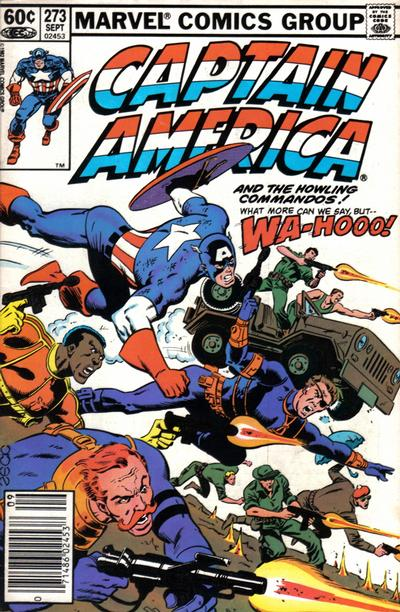 Cover for Captain America (Marvel, 1968 series) #273 [Newsstand Edition]