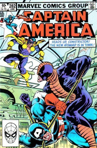 Cover for Captain America (Marvel, 1968 series) #282 [2nd printing]