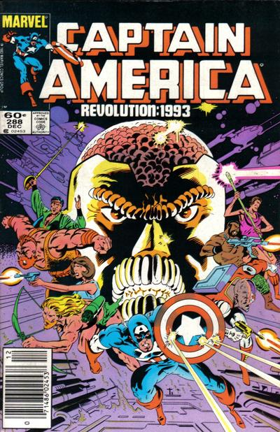 Cover for Captain America (Marvel, 1968 series) #288 [Direct Edition]
