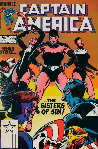 Cover for Captain America (1968 series) #295 [Newsstand Edition]
