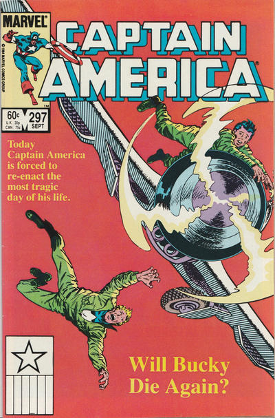 Cover for Captain America (Marvel, 1968 series) #297 [Newsstand Edition]