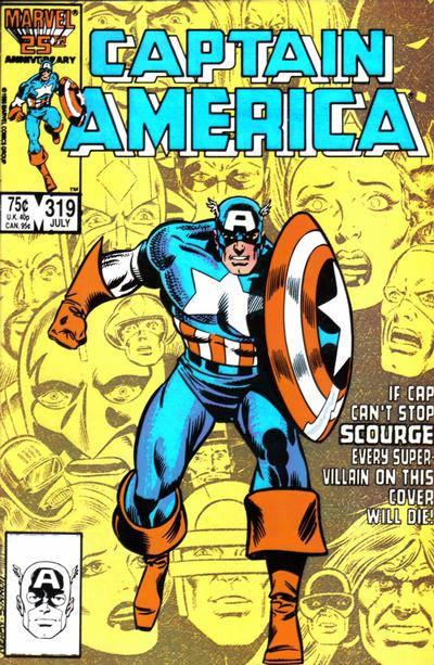 Cover for Captain America (Marvel, 1968 series) #319 [Newsstand Edition]