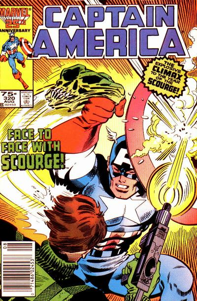 Cover for Captain America (Marvel, 1968 series) #320 [Newsstand Edition]