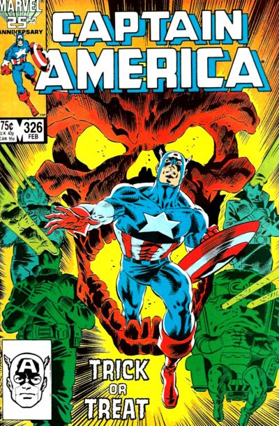 Cover for Captain America (Marvel, 1968 series) #326 [Direct Edition]