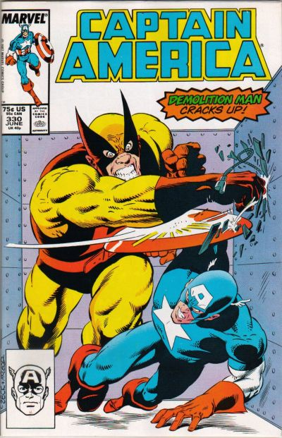 Cover for Captain America (Marvel, 1968 series) #330 [Newsstand Edition]