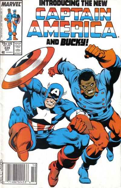 Cover for Captain America (Marvel, 1968 series) #334 [Direct Edition]