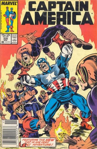 Cover for Captain America (Marvel, 1968 series) #335 [Direct Edition]