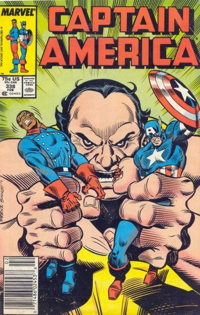 Cover for Captain America (Marvel, 1968 series) #338 [Newsstand Edition]