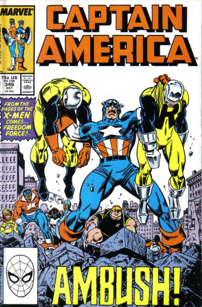 Cover for Captain America (Marvel, 1968 series) #346 [Direct Edition]