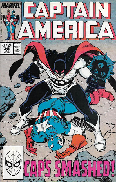 Cover for Captain America (Marvel, 1968 series) #348 [Direct Edition]