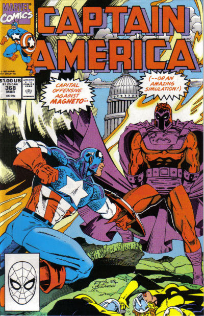 Cover for Captain America (Marvel, 1968 series) #368 [Direct Edition]