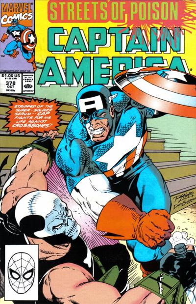 Cover for Captain America (Marvel, 1968 series) #378 [Direct Edition]