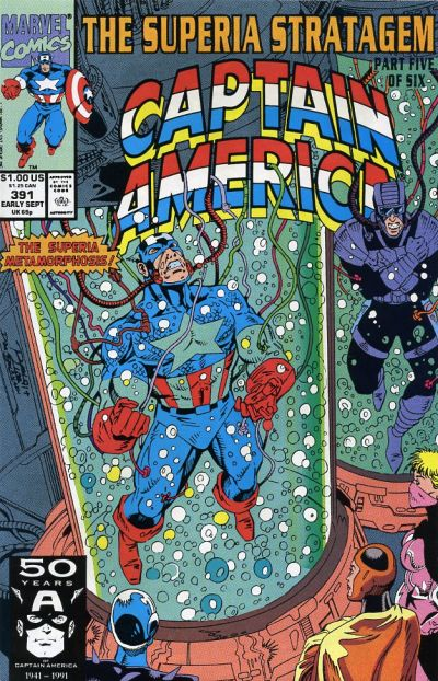 Cover for Captain America (Marvel, 1968 series) #391 [Direct Edition]