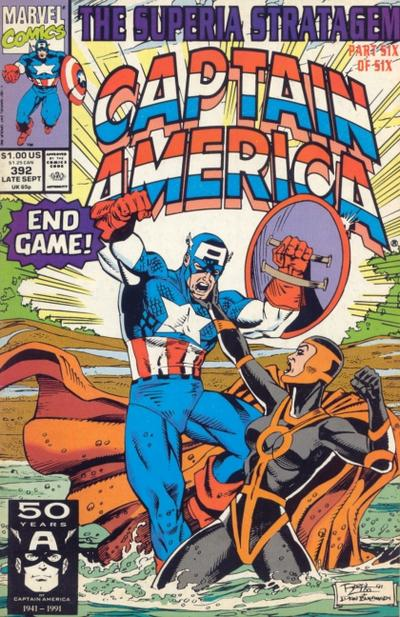 Cover for Captain America (Marvel, 1968 series) #392 [Direct Edition]