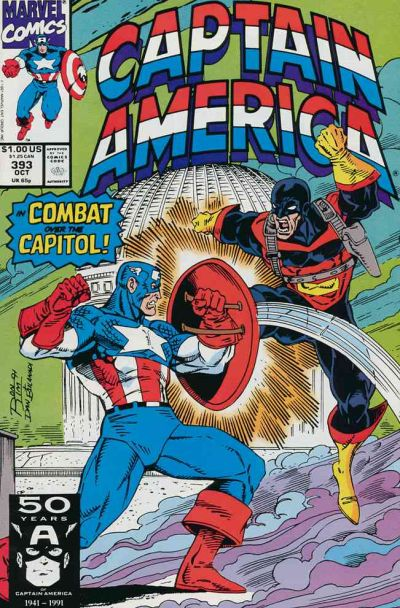 Cover for Captain America (Marvel, 1968 series) #393 [Direct Edition]