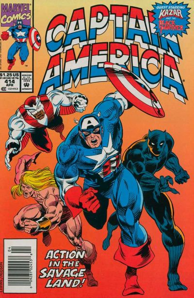 Cover for Captain America (Marvel, 1968 series) #414 [Direct Edition]