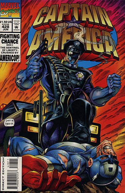 Cover for Captain America (Marvel, 1968 series) #428 [Direct Edition]