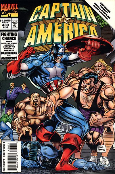 Cover for Captain America (Marvel, 1968 series) #430 [Direct Edition]