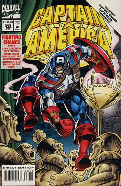 Cover for Captain America (Marvel, 1968 series) #432 [Direct Edition]