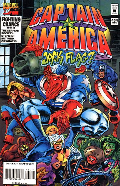 Cover for Captain America (Marvel, 1968 series) #434 [Direct Edition]