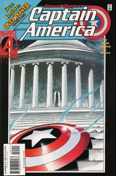 Cover for Captain America (Marvel, 1968 series) #444 [Newsstand Edition]