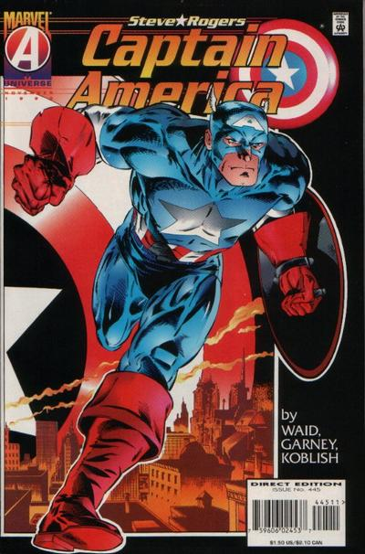 Cover for Captain America (Marvel, 1968 series) #445 [Newsstand Edition]