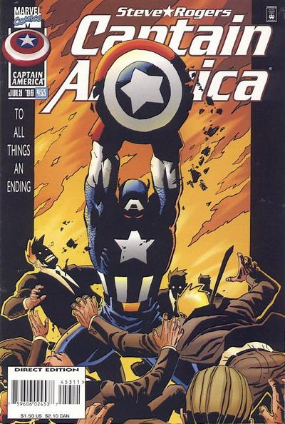 Cover for Captain America (Marvel, 1968 series) #453 [Direct Edition]