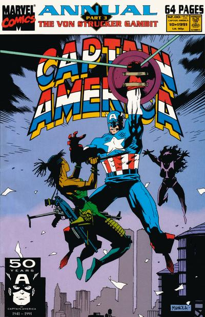 Cover for Captain America Annual (Marvel, 1971 series) #10 [Direct Edition]