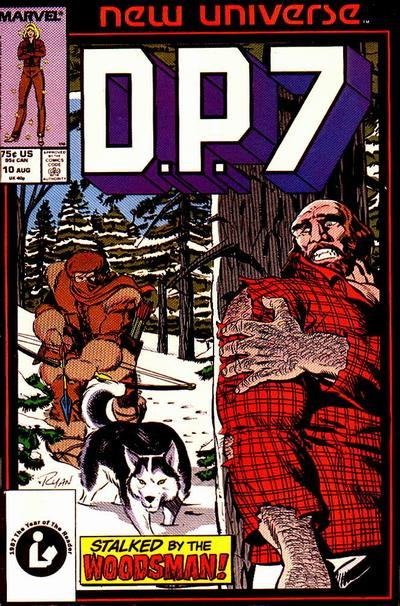 Cover for D.P. 7 (Marvel, 1986 series) #10 [Direct Edition]