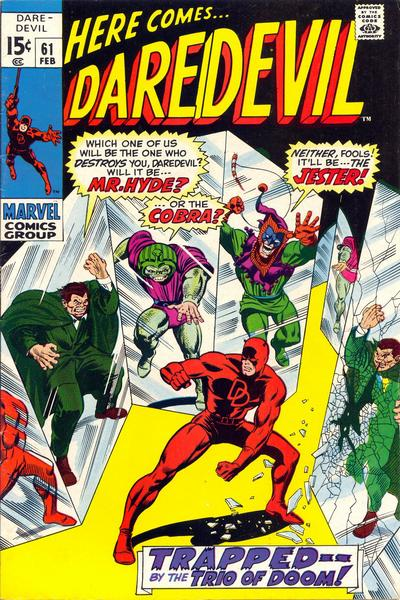 Cover for Daredevil (Marvel, 1964 series) #61 [Regular Edition]