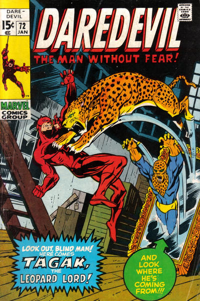Cover for Daredevil (1964 series) #72