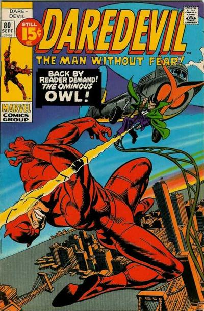 Cover for Daredevil (1964 series) #80