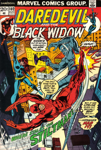 Cover for Daredevil (Marvel, 1964 series) #102