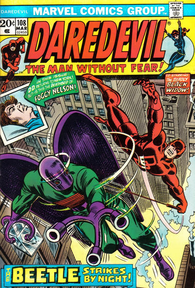 Cover for Daredevil (1964 series) #108