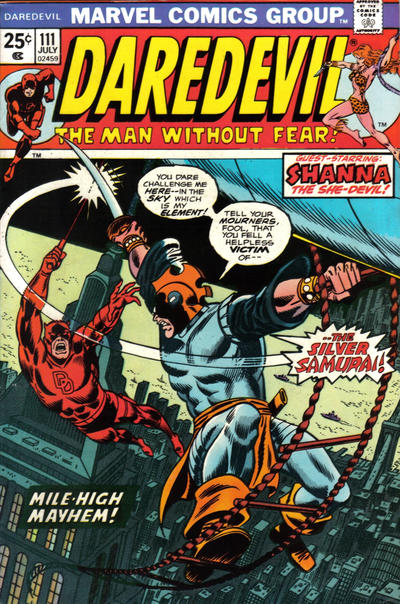 Cover for Daredevil (1964 series) #111