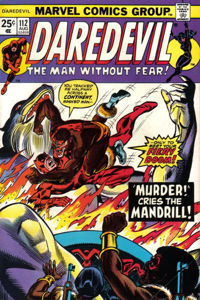 Cover for Daredevil (1964 series) #112