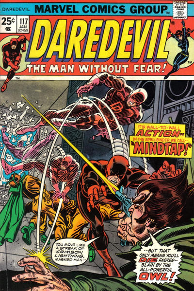 Cover for Daredevil (Marvel, 1964 series) #117 [Regular Edition]