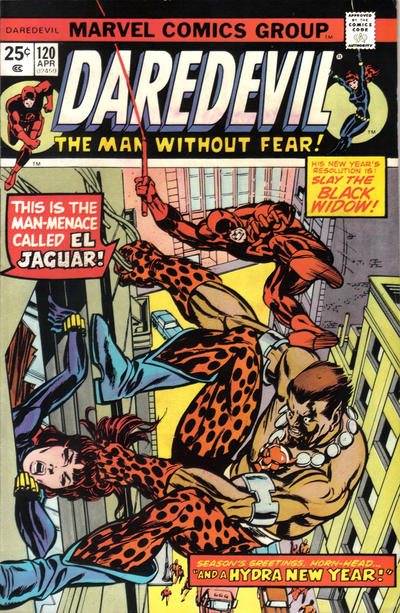 Cover for Daredevil (Marvel, 1964 series) #120 [Regular Edition]