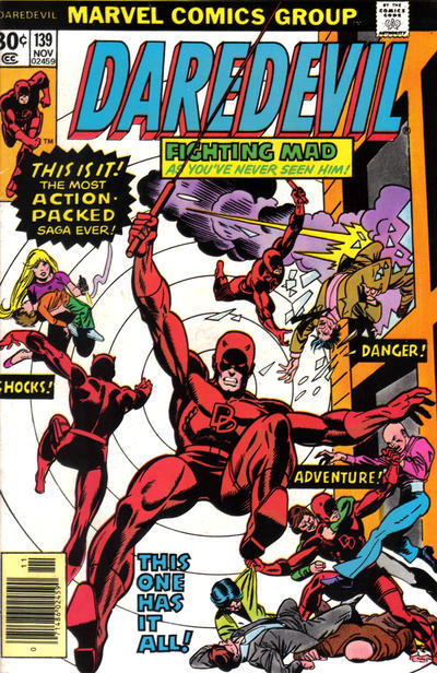 Cover for Daredevil (1964 series) #139