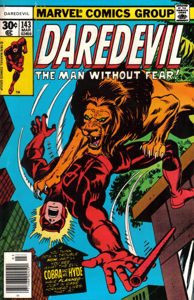 Cover for Daredevil (1964 series) #143