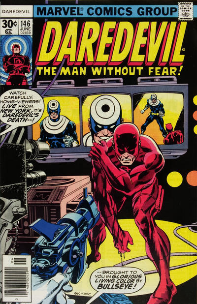 Cover for Daredevil (Marvel, 1964 series) #146 [30¢ Cover Price]