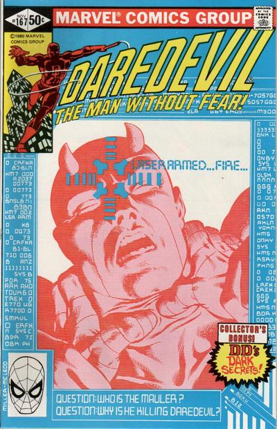 Cover for Daredevil (1964 series) #167 [Newsstand]